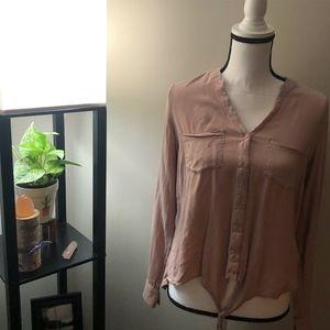 SO Pink Long Sleeve Button Down Shirt